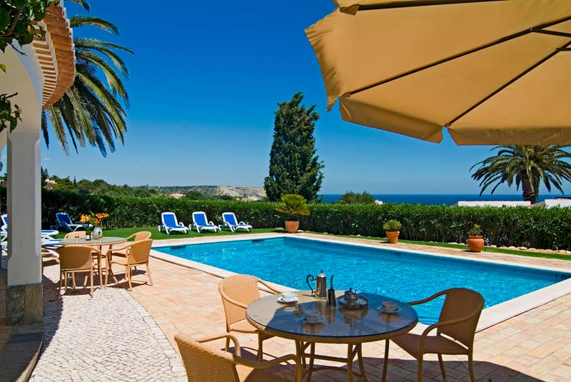 806 Villa Camena, private villa for 8 people in exclusive position with sea views in Praia da Luz, Western Algarve, Portugal