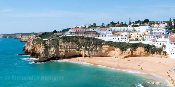 Picturesque fishing village Carvoeiro Westalgarve